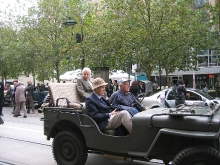 2010 Annual March Alan Rundle, John Hepworth in Jeep