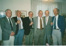 1996 Annual Reunion, Cec Rae, John Campbell, Tom Dawson, ?, Les Harris, Ron Bryant