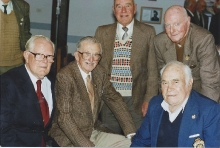 2001 Annual Reunion, Frank Hands, Les Harris, Les Shields, 'Blue' Page, Les Stephens