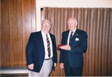 Beaumauris RSL President and Association President Jim Paton 1986