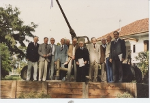 Association Members With Beaumauris Bofors 1986