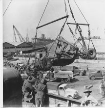 Loading Bofors At Suez