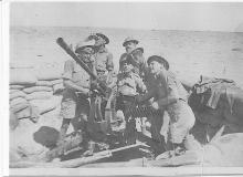 John Campbell (rear) with Breda crew