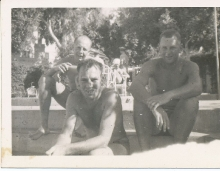 Mena House Pool - Jim Paton, Bill, Ian