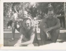 Mena House Pool - Jim Paton, Bill, Ian