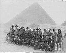 Group In Front Of Pyramid