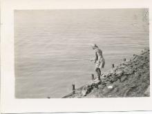 Jim Paton Fishing In The Suez Canal