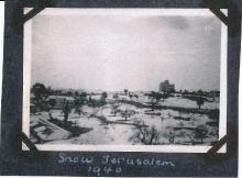 Snow In Jerusalem 1940