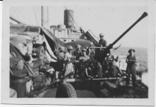 Bofors On Deck of City of Hankow