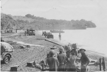 Bofors On Buna Beach
