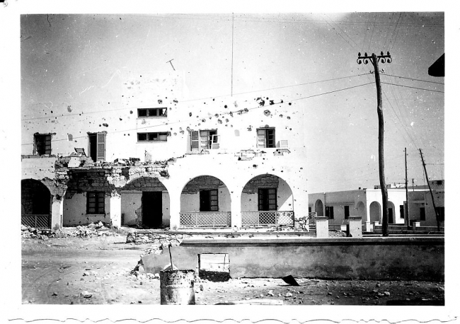 Derna Building Wrecked By Naval Fire